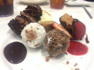 Desserts at Dave and Buster's