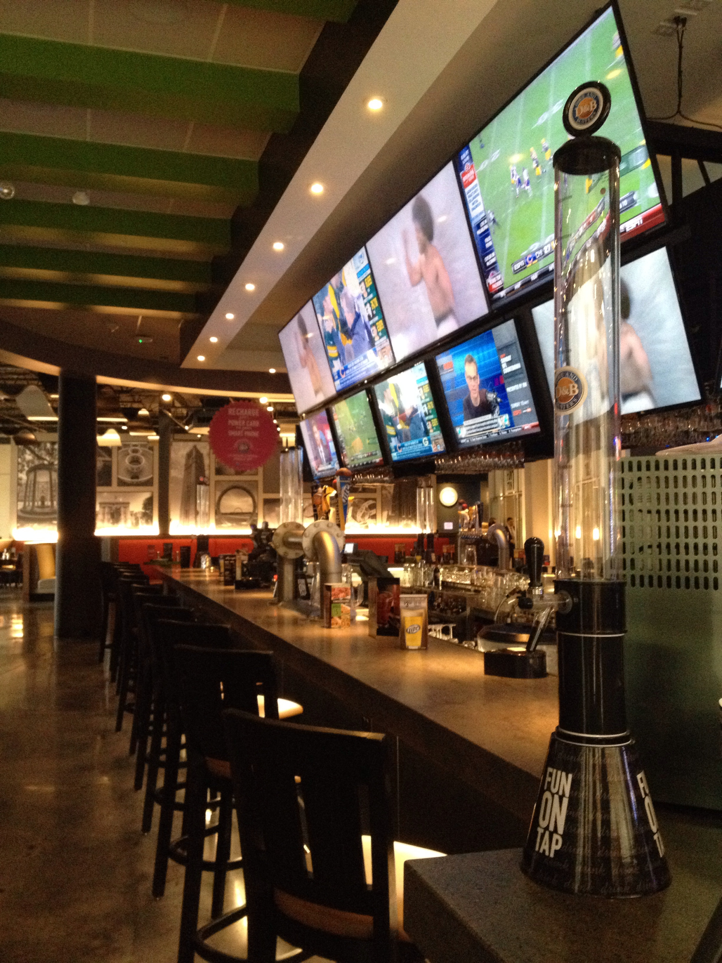 Dave and buster s cary fun food and fabulous games for Food bar drinking game