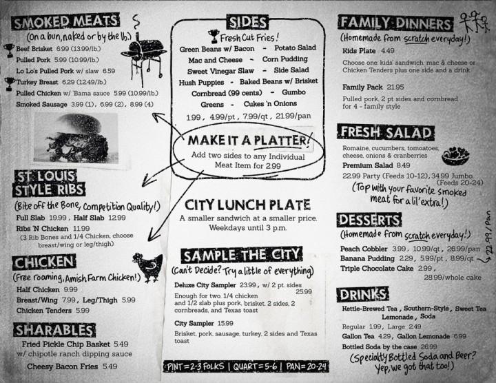 city b menu